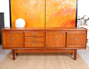 Vintage Teak Sideboard Cocktail Cabinet Mcm 1970s Long Low Retro