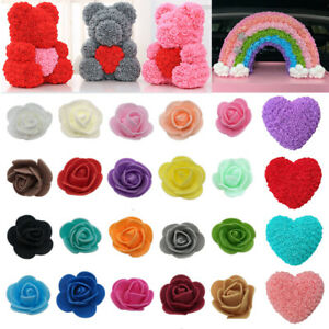 3cm 500Pcs Foam Roses Head Buds Small Flowers Wedding Home Party Decoration