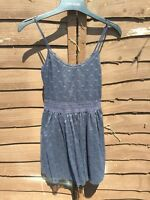 Lovely Hilfiger Navy Stretch Polka Dot Detail Summer Dress