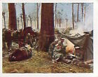German Soldiers Rende troops Poland Deutsches Heer WWI WELTKRIEG 14/18 CHROMO
