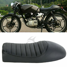 Black Hump Saddle Cafe Racer Vintage Seat Cushion For Suzuki GS Honda CB CL USA