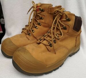 Hard Yakka Men's Tan Brown Raider Safety Boots Size AU UK 7 US 8 Used Condition