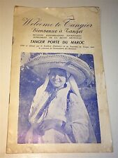 Rare Antique Morocco Vacation Guide, Welcome to Tangier! Transportation! Travel!