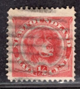NEWFOUNDLAND CANADA 1887/96 STAMP Sc. # 56 USED DOG