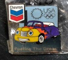 Chevron Gasoline Atlanta Olympic Pin VERY RARE NEW SEALED Fueling the Dream!