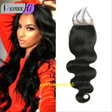 Remeehi 4x4 8A Top Lace Closure Body Wave Virgin Brazilian Human Hair Free Part