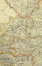1891 Antik Landkarte Austro-Hungarian Monarchy Wien Stadt Plan Dalmatien Tyrol