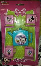 Plastic Walt Disney Minnie Mouse daffy duck Play Dishes tea set 9 pcs Toys