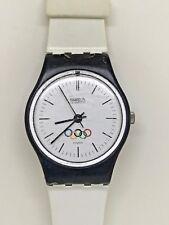 1985 Rare Swatch Watch Olympia Logo LZ100RE  OLYMPICS Orologio Reloj
