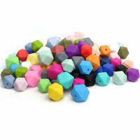 Hexagon Silicone Beads DIY Baby Sensory Chew Teething Necklace Teether Making