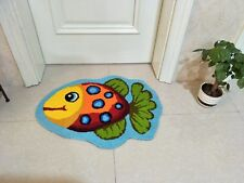 2.5*2.0Ft  Home Door Rug Handmade Bathmat Washable Doormat Bath Rug Non-slip
