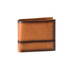 DUDU Portafoglio uomo piccolo in pelle MARRONE C. con portamonete e porta carte