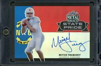 2017 MITCH TRUBISKY Leaf Metal State Pride Auto RC Rookie Black 5/10 Bears QB