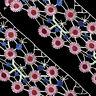 1Yard Rosa Plum Blume Gestickt Trimmen Spitze Applique DIY Hochzeitskleid Nähen