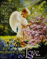 An Angel's Tenderness - LICENSED Donna Gelsinger - QUEEN - FAUX FUR BLANKET