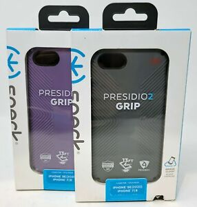 Speck Presidio2 Grips Case for Apple iPhone SE 2020, iPhone 7/8 - Two-Layered