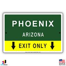 Phoenix, Arizona Highway Exit Novelty State City Aluminum Metal Sign