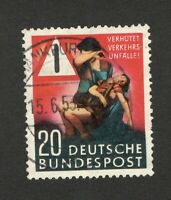 GERMANY - USED STAMP - Road Safety Campaign stamp - 1953.
