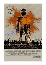The Wicker Man A4 reproduction autograph film poster with choice of frame