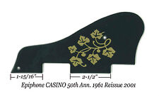Epiphone CASINO 50th Ann. 1961 RI Blk/Gold Pickguard ES-295 Guitar Project NEW