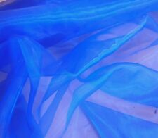 St Plain organza royal blu VOILE Stoffa Decorazione Costume materiale di copertura