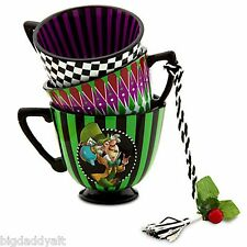 New Disney Park Alice In Wonderland The Mad Hatter Party Tea Cup Ornament Figure