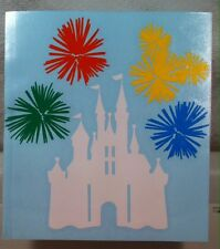 Cinderella's Castle with fireworks (Can be customized) vinyl decal