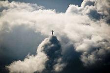 "Christ the Redeemer above Rio de Janeiro, Brazil, 11 x 14"" Photo Print"