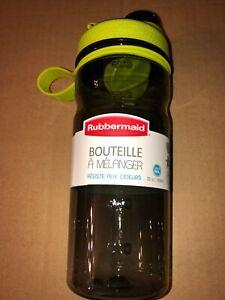 RUBBERMAID 20 OZ. SHAKER BOTTLE  LIME GREEN/BLACK
