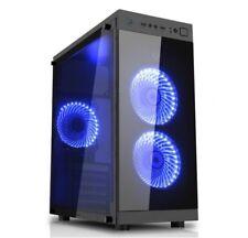 Glasseite Glasscheibe Gaming Pc Gehäuse USB 3.0 ATX Tower schwarz--xk3s
