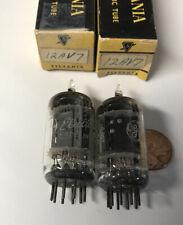 (2) Vintage Ge 5965 12Av7 Vacuum Tubes Tested