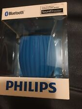 PHILIPS SOUND SHOOTER PORTABLE SPEAKER  BLUE NEW & SEALED