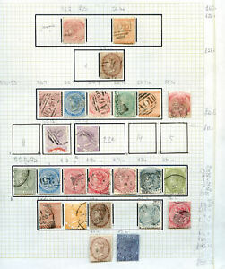 Jamaica QV to KG 6th used run on 8 pages with values to 10sh (2020/04/07#03)
