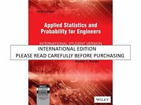 Applied Statistics and Probability for Engineers by Douglas C. Montgomery and...