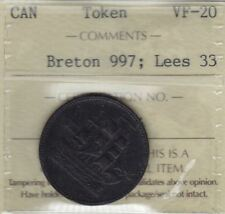 Ships Colonies & Commerce Token CH PE-10-33 Breton #997; Lees 33. ICCS VF-20