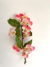 Vtg Millinery Flowers Germany Pink Velvet Viola Wedding  Doll Hat Garland