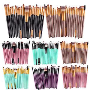 20PCS Foundation Eyeshadow Eyeliner Powder Lip Brushes Set Kabuki Soft Tool