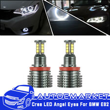 240W Total White BMW H8 CREE LED Angel Eyes Ring Marker Bulbs For 1 3 5 X Series