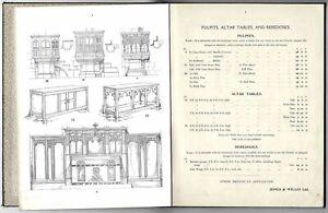 Original c.1910's Jones & Willis Church Furniture & Furnishings Catalogue