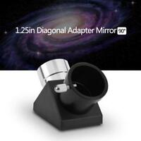 1.25inch 90°Diagonal Mirror Adapter Erecting Image Prism for Astronomy Telescope