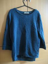 Pull & Bear S 8 10 Azul marino Con textura 3/4 Sleeve Jumper Suéter sudor