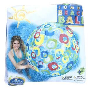 Intex Jumbo Beach Ball 48 inch The Wet Set 6 Panel Squares 2009 Rare #59070EP