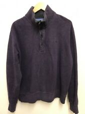GANT Mens Half Zip Purple Cotton Jumper Sweater Pullover Size L Large