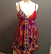 Dress by Forever 21, Size Large,Burgundy Chiffon, Lined, Adjustable Straps EUC