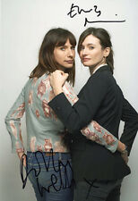 Doll and Em, Dolly Wells & Emily Mortimer, signed 12x8 inch photo. COA.