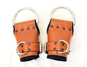 The Multi-Cuff Brown Leather Wrist Suspension Cuffs by Axovus
