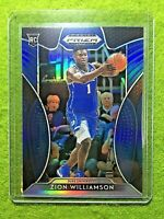ZION WILLIAMSON ROOKIE CARD PRIZM PANINI RC PELICANS 2019 DUKE JERSEY #1 BLUE SP