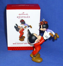 Hallmark Ornament Mickey Mouse Christmas Carol #5 2013 Bob Cratchit Tiny Tim NIB