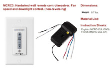 Monte Carlo MCRC3 4 Speed Wall Control Hard Wire Ceiling Fan Remote Controller