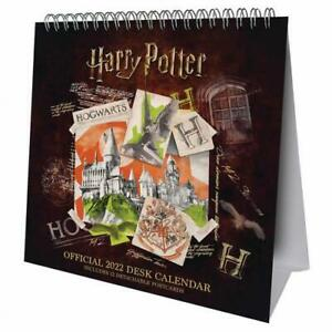 Harry Potter Year 2022 Hardback Desk Easel Calendar Page-a-Month Tent